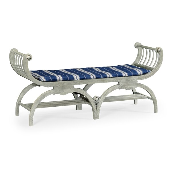 Double Lucca Wood Bench by Jonathan Charles Fine Furniture