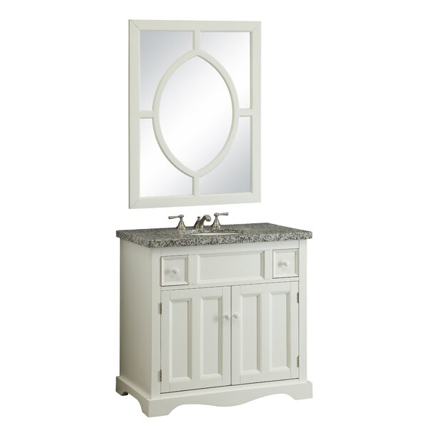 Mulvey 35 Bathroom Vanity Set with Mirror by Beachcrest Home