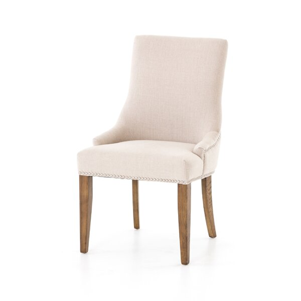 Barronhurst Linen Upholstered Side Chair in Beige (Set of 2) by Darby Home Co Darby Home Co