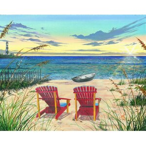 'Outer Banks Sunrise' by Scott Westmoreland Graphic Art on Canvas by Printfinders