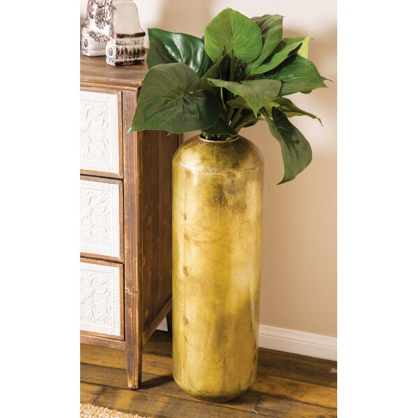 Mattes Rustic Distressed Metal Pot Planter by Wrought Studio