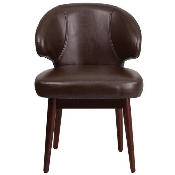 Fluellen Comfort Back Leather Guest Chair by Wrought Studio