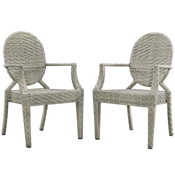 Byron Patio Dining Chair (Set of 2) by Bayou Breeze