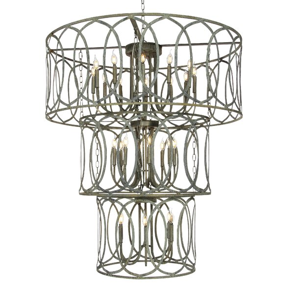 24 - Light Candle Style Tiered Chandelier by ellahome ellahome