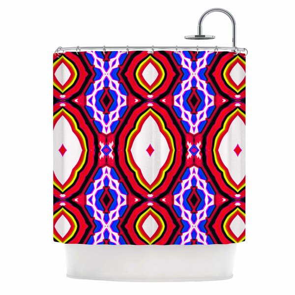 Dawid Roc inspired By Psychedelic Art 2 Abstract Shower Curtain by East Urban Home
