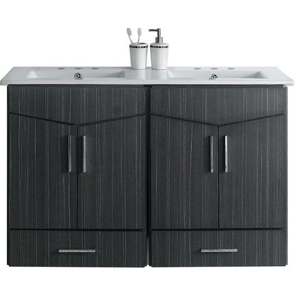 Mcfarren 48 Wall-Mounted Double Bathroom Vanity Set