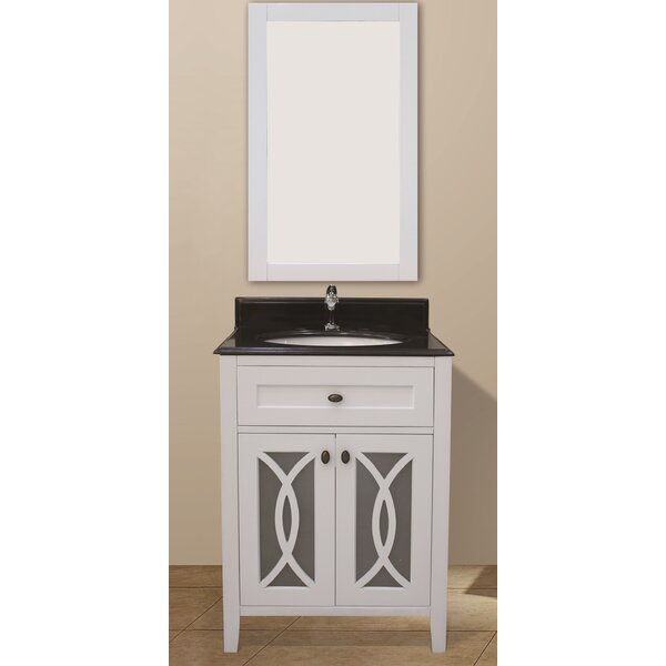 Margaret Garden 31 Single Bathroom Vanity Set with Mirror by NGY Stone & Cabinet