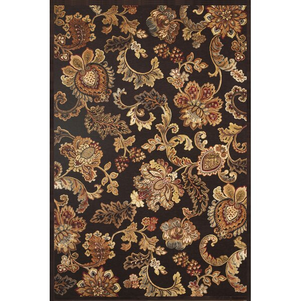 Louisa Chocolate/Tan/Sage/Burgundy Area Rug by Darby Home Co