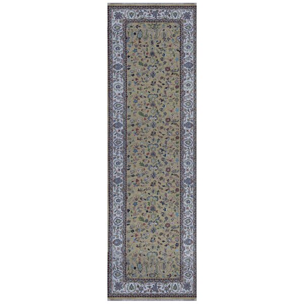 India Sumak Hand Knotted Wool Brown/Blue Rug