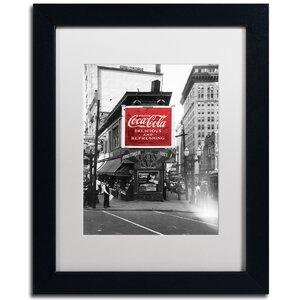'Color Splash Vintage Photography' by Coca Cola Framed Vintage Advertisement by Trademark Fine Art