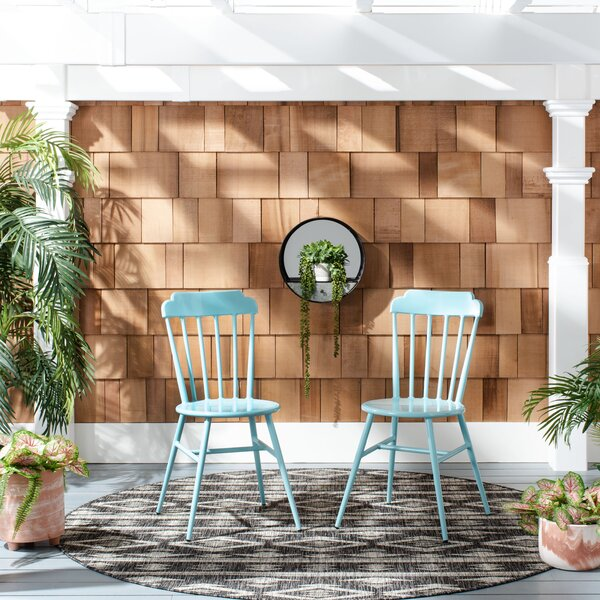 Davion Stacking Patio Dining Chair by Gracie Oaks