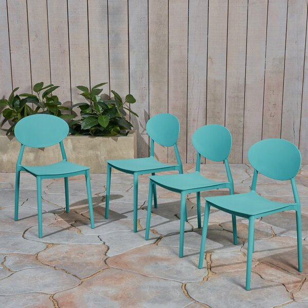 Dills Stacking Patio Dining Chair (Set of 4) by Ebern Designs