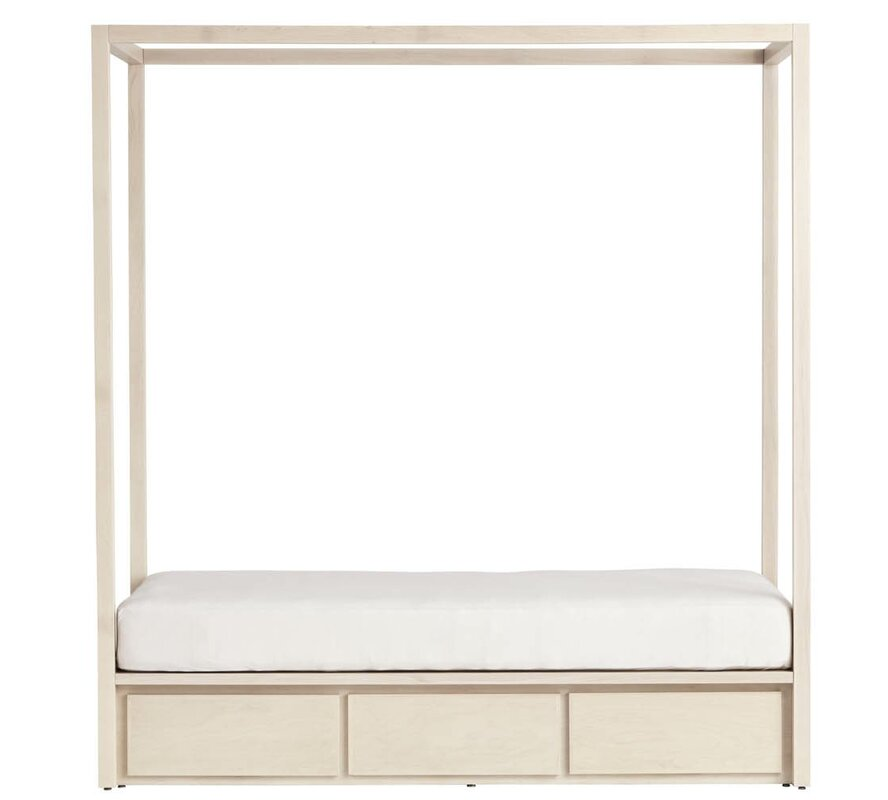Kandice Twin Storage Canopy Bed without Headboard  sc 1 st  Wayfair & Harriet Bee Kandice Twin Storage Canopy Bed without Headboard ...