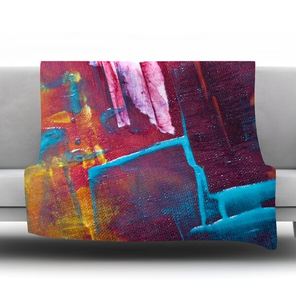 Cityscape Abstracts II Fleece Throw Blanket by KESS InHouse