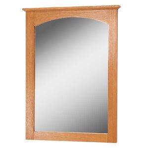 Deanfield Rectangle Oak Bathroom Mirror