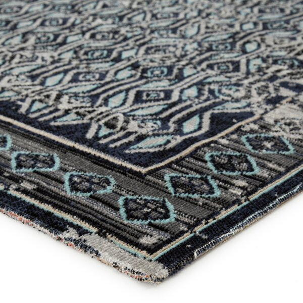 Donnelly Gray/Blue Indoor/Outdoor Area Rug by Bungalow Rose