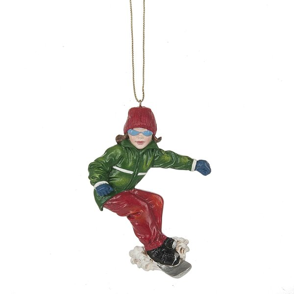 Girl Snowboarder Hanging Figurine by The Holiday A