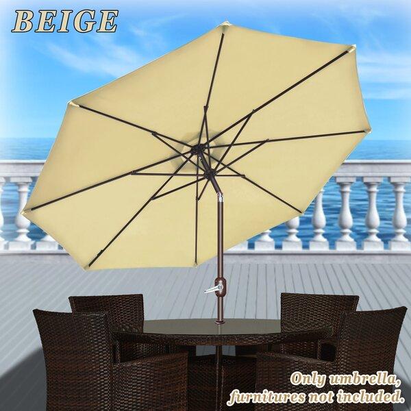 Rosaura Traditional Octagonal Outdoor Garden Parasol Patio Market Umbrella by Darby Home Co