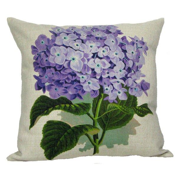 Purple Hydrangea Throw Pillow by Golden Hill Studio