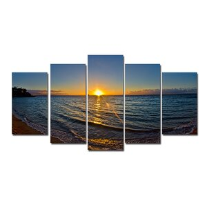'Sun Rise' 5 Piece Photographic Print on Wrapped Canvas Set by Latitude Run