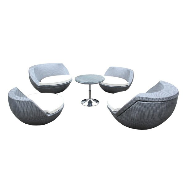 Laurencho 5 Piece Conversation Set with Cushions by Orren Ellis