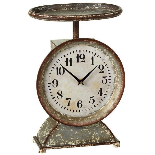 Haddon Decorative Scale Tabletop Clock by Gracie Oaks