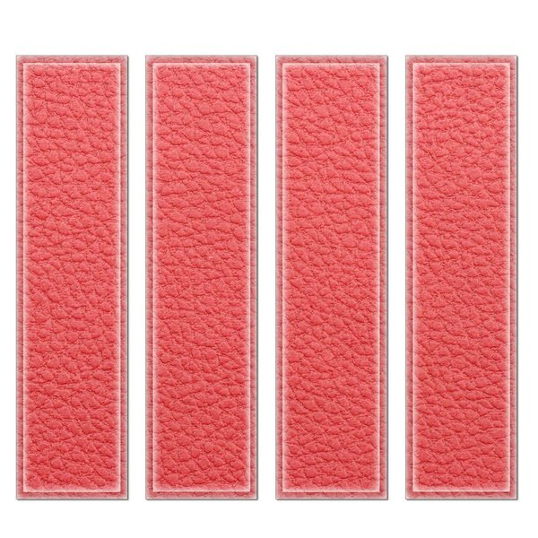 Crystal 3 x 12 Beveled Glass Subway Tile in Red by Upscale Designs by EMA