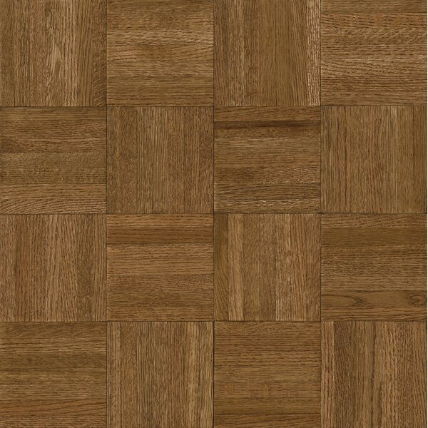 Millwork 12 Solid Oak Parquet Hardwood Flooring in Forest Brown by Armstrong Flooring