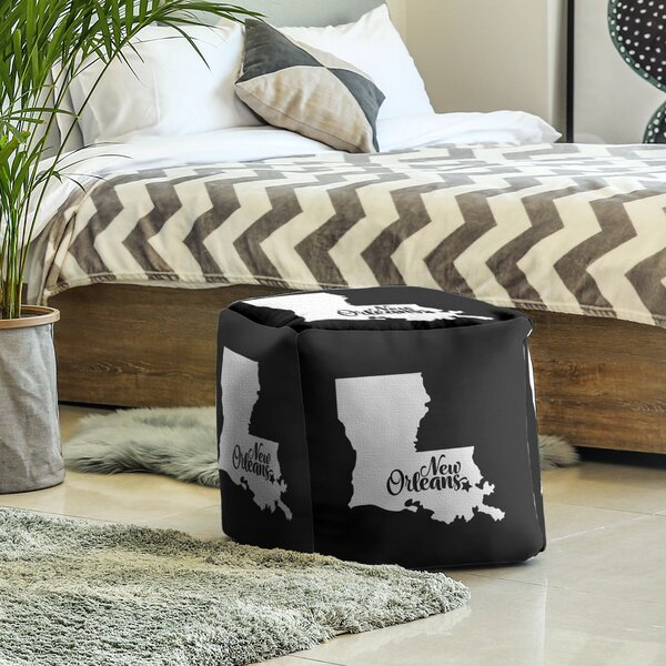 New Orleans Louisiana Cube Ottoman By East Urban Home