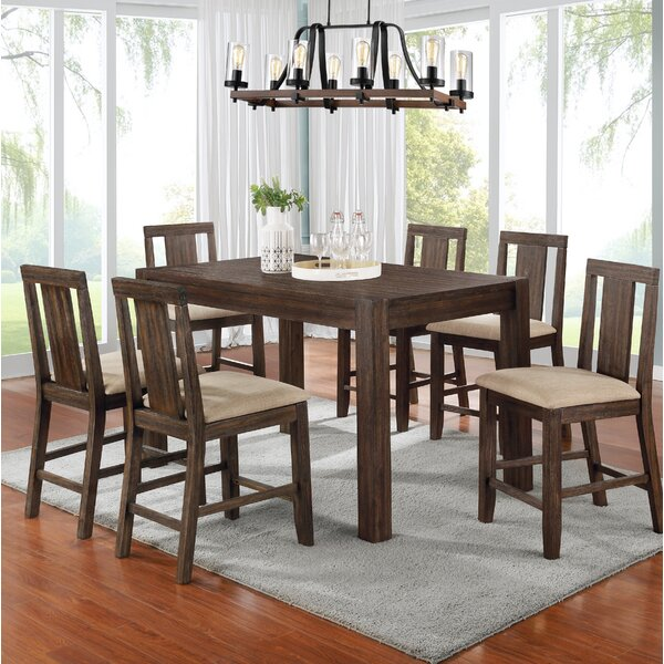 Cicely 7 Piece Counter Height Dining Set by Millwood Pines Millwood Pines