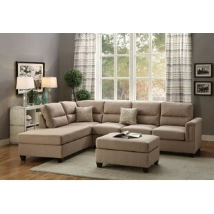 Read Reviews Shanks Reversible Sectional with Ottoman By Gracie Oaks