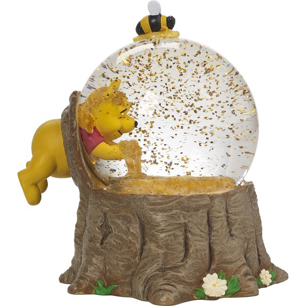 Disney Showcase Winnie the Pooh Musical Snow Globe For the Love of Hunny Resin and Glass Figurine by Precious Moments