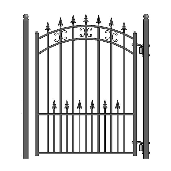 5.5 ft. H x 4.5 ft. W St. Petersburg Steel Pedestrian Gate by ALEKO