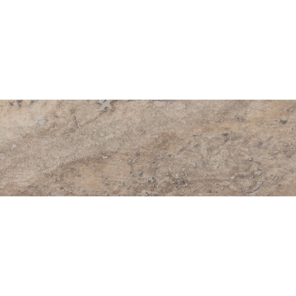Honed 4 x 12 Travertine Subway Tile in Gray by MSI