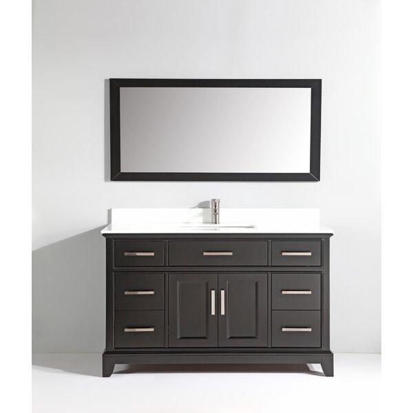Junie Stone 60 Single Bathroom Vanity with Mirror by Gracie Oaks
