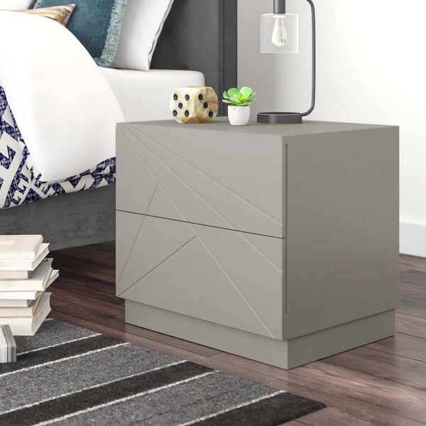 Ernesto 2 Drawer Nightstand by Wade Logan