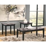 Crume 3 Piece Coffee Table Set by Charlton Home®