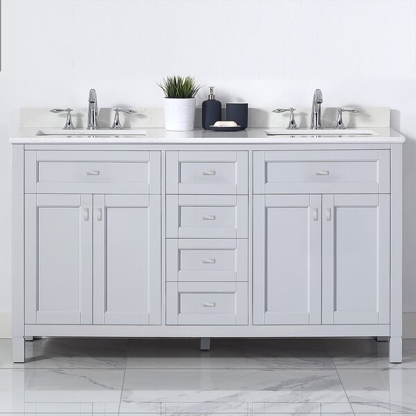 Bentson 60 Double Bathroom Vanity Set by Highland Dunes