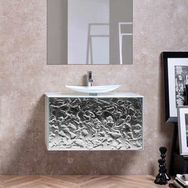 Dumaine Glow Luxury Crystal 32 Wall-Mounted Single Bathroom Vanity