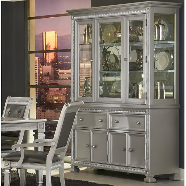 Mabe Lighted China Cabinet by Rosdorf Park
