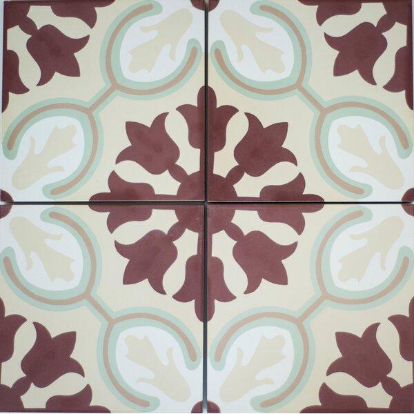 8 x 8 Avallon Cement Decorative Concrete Tile (Set of 4) by Rustico Tile & Stone