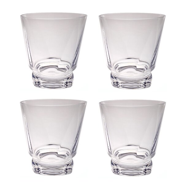Souther Twist Base 14 oz. Acrylic Every Day Glass (Set of 4) by Latitude Run