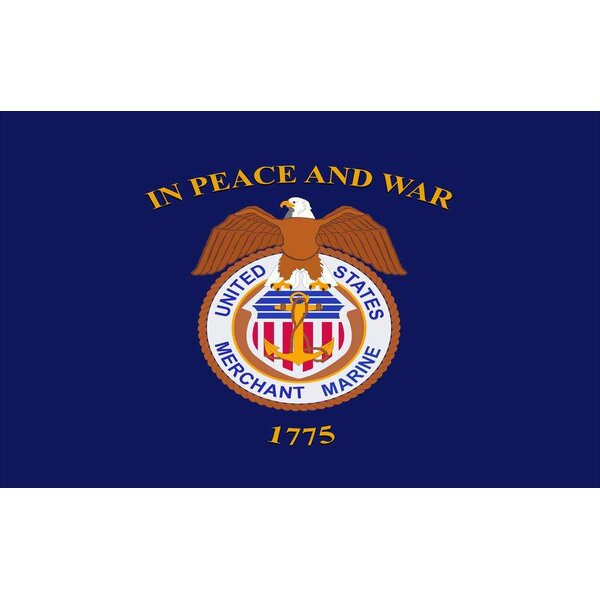 U.S. Merchant Marine Nylon Flag by U.S. Flag Store