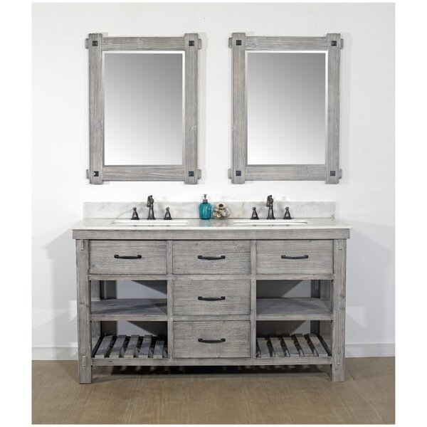 Vigil Rustic Solid Fir 60 Double Bathroom Vanity Set by Millwood Pines