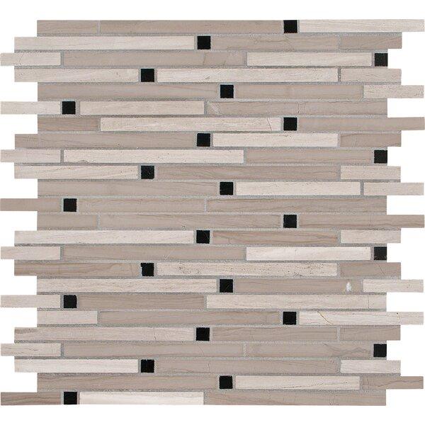 Interlocking Honed Marble Mosaic Tile in White Oak by MSI