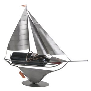 Sailboat 1 Bottle Tabletop Wine Rack by H & K SCULPTURES