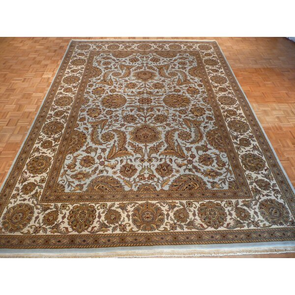 One-of-a-Kind Railey Hand-Knotted Light Blue Area Rug by Astoria Grand