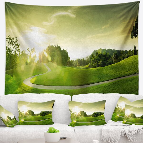 Landscape Beautiful Green Valley Panorama Tapestry and Wall Hanging by East Urban Home