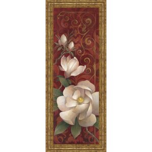 Magnolia Melody II by Elaine Valherbst-Lane Framed Painting Print by Classy Art Wholesalers