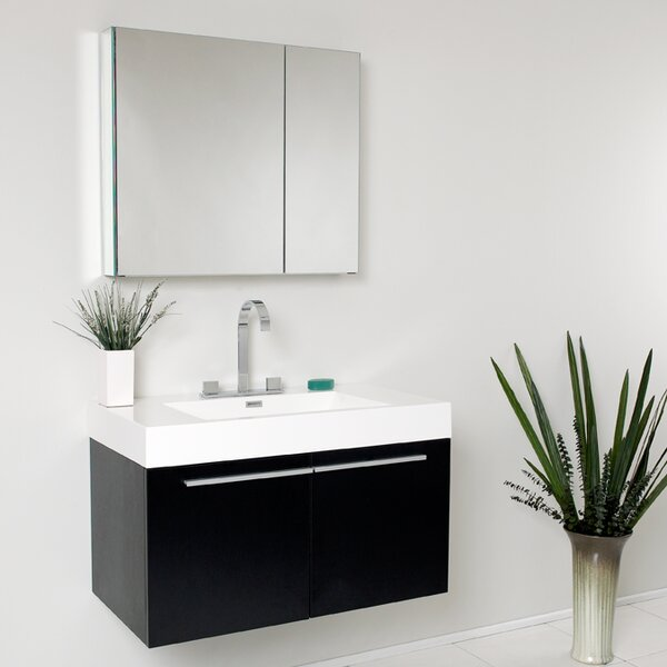 Senza Vista 36 Single Bathroom Vanity Set with Mirror by Fresca
